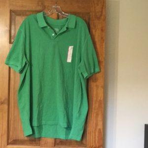 NWT Men's Merona Green Polo Size XXL